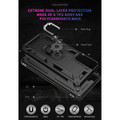 Black Shock Proof 360 Rotating Metal Ring Stand Case For Galaxy S21+ Plus - 4