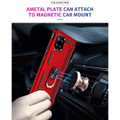 Red Galaxy A42 5G 360 Rotating Metal Ring Shock Proof Kickstand Case - 3