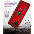 Red Galaxy A42 5G 360 Rotating Metal Ring Shock Proof Kickstand Case - 5