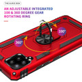 Red Galaxy A42 5G 360 Rotating Metal Ring Shock Proof Kickstand Case -  6