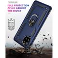 Navy Galaxy A42 5G Shock Proof 360 Rotating Metal Ring Kickstand Case - 7