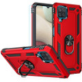 Red Galaxy A12 Metal Ring 360 Rotating Tough Slim Armor Stand Case - 1