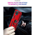 Red Galaxy A12 Metal Ring 360 Rotating Tough Slim Armor Stand Case - 2