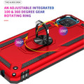 Red Galaxy A12 Metal Ring 360 Rotating Tough Slim Armor Stand Case - 3