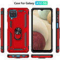 Red Galaxy A12 Metal Ring 360 Rotating Tough Slim Armor Stand Case - 4