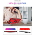 Red Galaxy A12 Metal Ring 360 Rotating Tough Slim Armor Stand Case - 5
