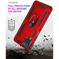 Red Galaxy A12 Metal Ring 360 Rotating Tough Slim Armor Stand Case - 7