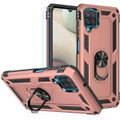 Rose Gold Metal Ring 360 Rotating Shock Proof Stand Case For Galaxy A12 - 1