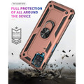 Rose Gold Metal Ring 360 Rotating Shock Proof Stand Case For Galaxy A12 - 4