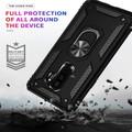 Black Galaxy S9 Shock Proof  360 Degree Rotating Metal Ring Case - 5