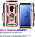 Rose Gold Galaxy S9 Slim Armor 360 Rotating Metal Ring Stand Case - 2