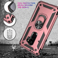 Rose Gold Galaxy S9 Slim Armor 360 Rotating Metal Ring Stand Case - 5