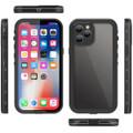 Black iPhone 12 Pro Max Waterproof Dirtproof Shock Proof Case - 3