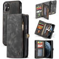 Black Multi-functional 2 in 1 Magnetic Retro Wallet Case for iPhone 11 - 1