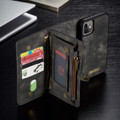 Black Multi-functional 2 in 1 Magnetic Retro Wallet Case for iPhone 11 - 2