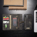 Black Multi-functional 2 in 1 Magnetic Retro Wallet Case for iPhone 11 - 3