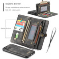 Black Multi-functional 2 in 1 Magnetic Retro Wallet Case for iPhone 11 - 4