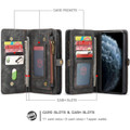 Black Multi-functional 2 in 1 Magnetic Retro Wallet Case for iPhone 11 - 6