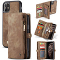 Vintage Brown 2 in 1 Wallet / Detachable Shock Proof Case for iPhone 11 - 1