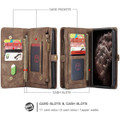 Vintage Brown 2 in 1 Wallet / Detachable Shock Proof Case for iPhone 11 - 2