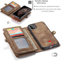 Vintage Brown 2 in 1 Wallet / Detachable Shock Proof Case for iPhone 11 - 3