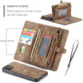 Vintage Brown 2 in 1 Wallet / Detachable Shock Proof Case for iPhone 11 - 4