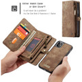 Vintage Brown 2 in 1 Wallet / Detachable Shock Proof Case for iPhone 11 - 5