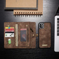 Vintage Brown 2 in 1 Wallet / Detachable Shock Proof Case for iPhone 11 - 6