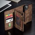 Vintage Brown 2 in 1 Wallet / Detachable Shock Proof Case for iPhone 11 - 7