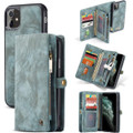 Blue iPhone 11  Multi-functional 2 in 1 Wallet / Purse Magnetic Case - 1