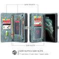 Blue iPhone 11  Multi-functional 2 in 1 Wallet / Purse Magnetic Case - 4