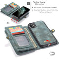 Blue iPhone 11  Multi-functional 2 in 1 Wallet / Purse Magnetic Case - 6
