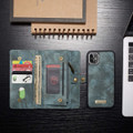 Blue iPhone 11  Multi-functional 2 in 1 Wallet / Purse Magnetic Case - 8