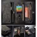 Black iPhone 7 / 8 Multi-functional 2 in 1 Magnetic Wallet Case Cover - 2