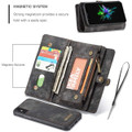 Black iPhone 7 / 8 Multi-functional 2 in 1 Magnetic Wallet Case Cover - 4