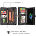 Black iPhone 7 / 8 Multi-functional 2 in 1 Magnetic Wallet Case Cover - 5