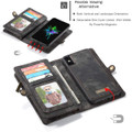 Black iPhone 7 / 8 Multi-functional 2 in 1 Magnetic Wallet Case Cover - 6