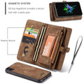 Retro Brown 2 in 1 Wallet Detachable Shock Proof  Case For iPhone 7 / 8 - 2