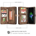 Retro Brown 2 in 1 Wallet Detachable Shock Proof  Case For iPhone 7 / 8 - 3