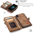 Retro Brown 2 in 1 Wallet Detachable Shock Proof  Case For iPhone 7 / 8 - 4