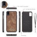 Retro Brown 2 in 1 Wallet Detachable Shock Proof  Case For iPhone 7 / 8 - 6