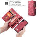 Red Multi-Functional Wallet Detachable Magnetic Case For iPhone 7 / 8 - 2