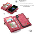 Red Multi-Functional Wallet Detachable Magnetic Case For iPhone 7 / 8 - 5