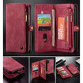 Red Multi-Functional Wallet Detachable Magnetic Case For iPhone 7 / 8 - 6