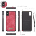 Red iPhone XR Stylish Multi-functional 2 in 1 Purse Wallet Magnetic Case - 2
