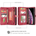 Red iPhone XR Stylish Multi-functional 2 in 1 Purse Wallet Magnetic Case - 3