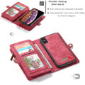 Red iPhone XR Stylish Multi-functional 2 in 1 Purse Wallet Magnetic Case - 6