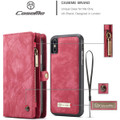 Red iPhone XR Stylish Multi-functional 2 in 1 Purse Wallet Magnetic Case - 7