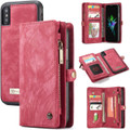 Red iPhone XR Stylish Multi-functional 2 in 1 Purse Wallet Magnetic Case - 8