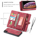Red iPhone XR Stylish Multi-functional 2 in 1 Purse Wallet Magnetic Case - 9